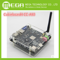 Free Shipping 1set Cubieboard4 CC A80 High Performance Mini PC Development Board Cubieboard A80 Version 3