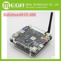 Free Shipping 1set Cubieboard4 CC A80 High Performance Mini PC Development Board Cubieboard A80 Version 3