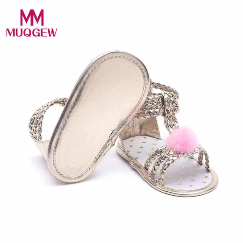 bb30831fb9 MUQGEW baby cute kids fur sandals gold sandals for girls baby shoes girls  leather summer girl baby sandals toddler shoes #6-7