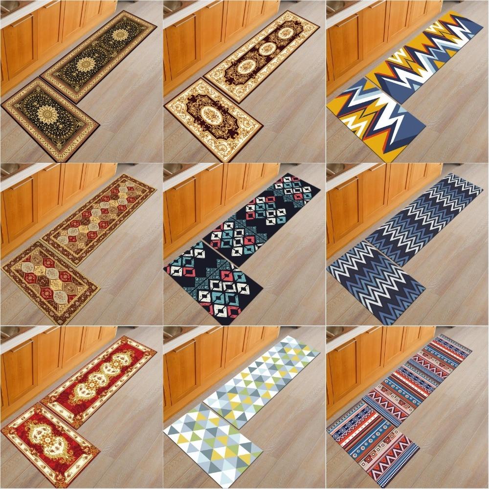 [byetee] European Rugs For Kitchen Cushion Bathroom Door Mats Outdoor Floor Mat Bedroom Bed Blanket Carpet Tapete Doormat Carpet