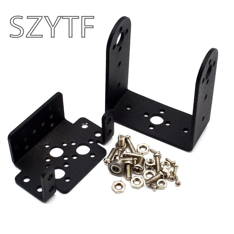 1set 2 DOF Short Pan And Tilt Servos Bracket Sensor Mount Kit For Compatible MG995 Wholesale Retail