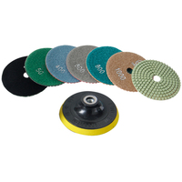 4'' Diamond Soft Grinding Plate With Self adhesive Polishing Pad 50 10000 Grit For Marble Ceramics Glass Abrasive Tools 8pcs