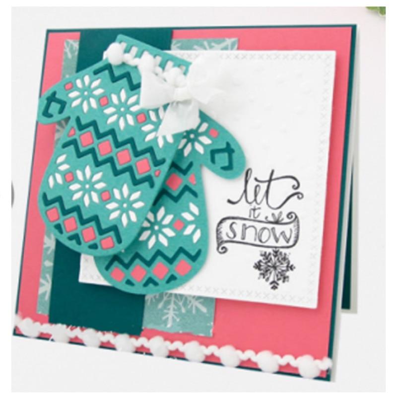 JC Metal Cutting Dies for Scrapbooking Snowflake Gloves Stencil Craft Handmade Album Embossing Folder Card Paper Photo Template in Cutting Dies from Home Garden