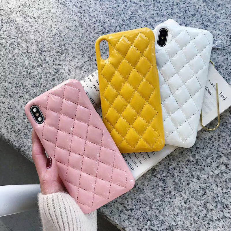 Glossy Small Fragrance Bling PU Leather Case For iPhone X Xr Xs Max 8 7 6 6s Plus Luxury Back Cover Capa Funda in Fitted Cases from Cellphones Telecommunications