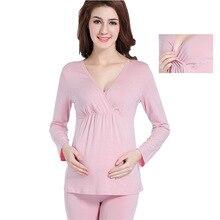 9e6562ca6 Modal Maternidade Pijamas Pijama para Conjuntos de pijama das Mulheres  Grávidas e Lactantes lactancia das Mulheres
