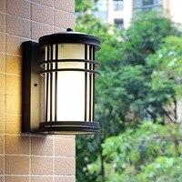 HAWBERRY LED outdoor waterproof cylinder European home garden balcony retro wall lamp door wall stairwell corridor light