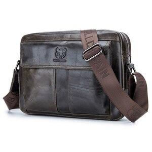 Image 1 - ABDB BULLCAPTAIN hakiki deri erkek çantası rahat iş adam omuz Crossbody çanta inek derisi büyük kapasiteli seyahat Messenger B