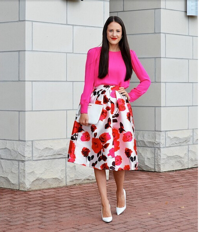 Trendy 2015 women satin skirts female vintage floral Trendy womens gifts 2015