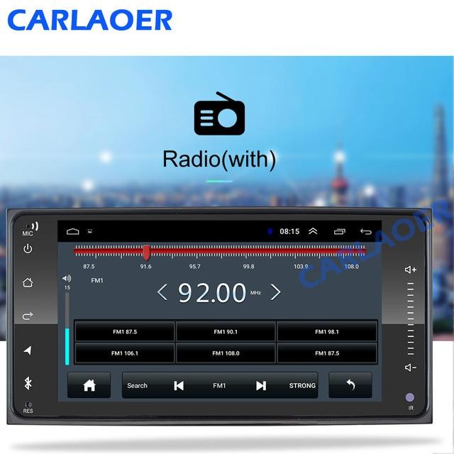 2 din android 8.1 uniwersalny samochodowy odtwarzacz multimedialny Radio samochodowe Stereo dla Toyota VIOS korona CAMRY HIACE PREVIA COROLLA RAV4
