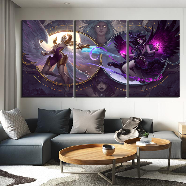 3 Piece LOL Games Art Print Canvas Paintings League of Legends Poster Pictures Decorative Paintings Wall Art for Home Decor 4