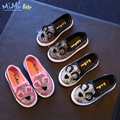 Bebé shoes 2016 nueva primavera de corea del estilo simple shoes boys and girls cartoon cat casual shoes kids estudiante marea shoes