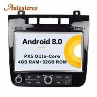 Autostereo Android 8 4+32G Car DVD Player GPS navigation For VW TOUAREG 2010 2014 headunit multimedia player tape recorder