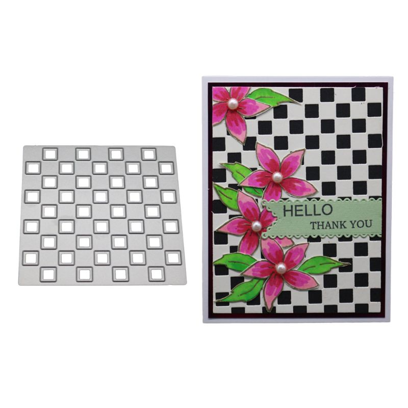 Flower Grid Metal Cutting Dies Stencil Scrapbook Paper Cards Embossing Craft DIY