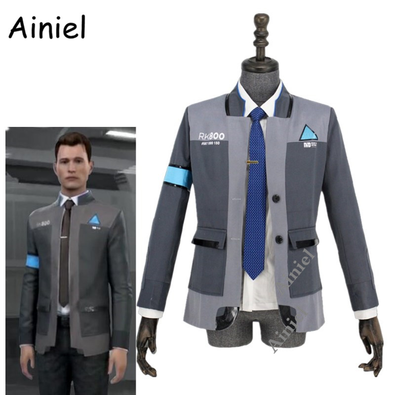 Ainiel Detroit Become Human Cosplay Costume Connor RK800 Agent Suit Adult Uniform Men Coat Shirt Tie