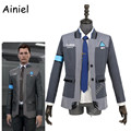Ainiel Detroit: Become Human Cosplay Costume Connor RK800 Agent Suit Adult Uniform Men Coat Shirt Tie For Halloween Party