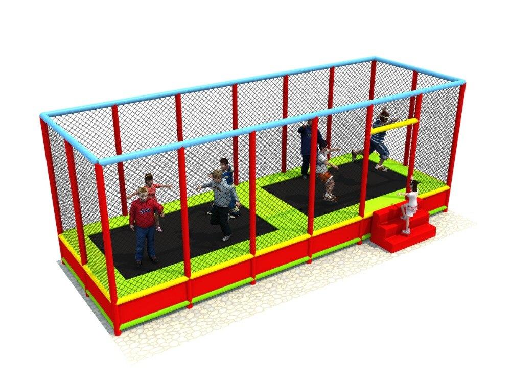 Lit de trampoline d'intérieur d'enfants, trampoline sautant d'amusement d'enfants
