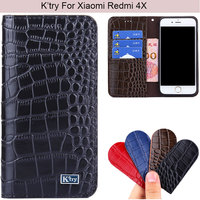 K Try Alligator Skin Genuine Real Leather Phone Case Luxury Elegant Waist Pouch For Xiaomi Redmi
