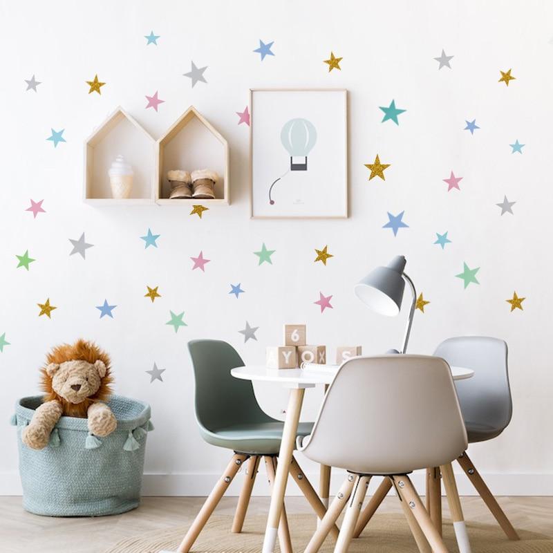 Custom Stars Wall Sticker For Kids Room Baby Nursery Bedroom Home Decoration Children Wall Decals Art Wall Stickers Wallpaper