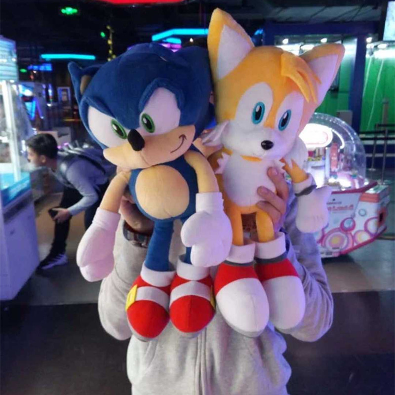 2 Styles 40cm Super suo ni ke Hedgehog Plush Dolls Sonic Boom Plush Toys Cartoon TV suo ni ke The Hedgehog Figure Doll спортивная футболка foreign trade and exports ni ke