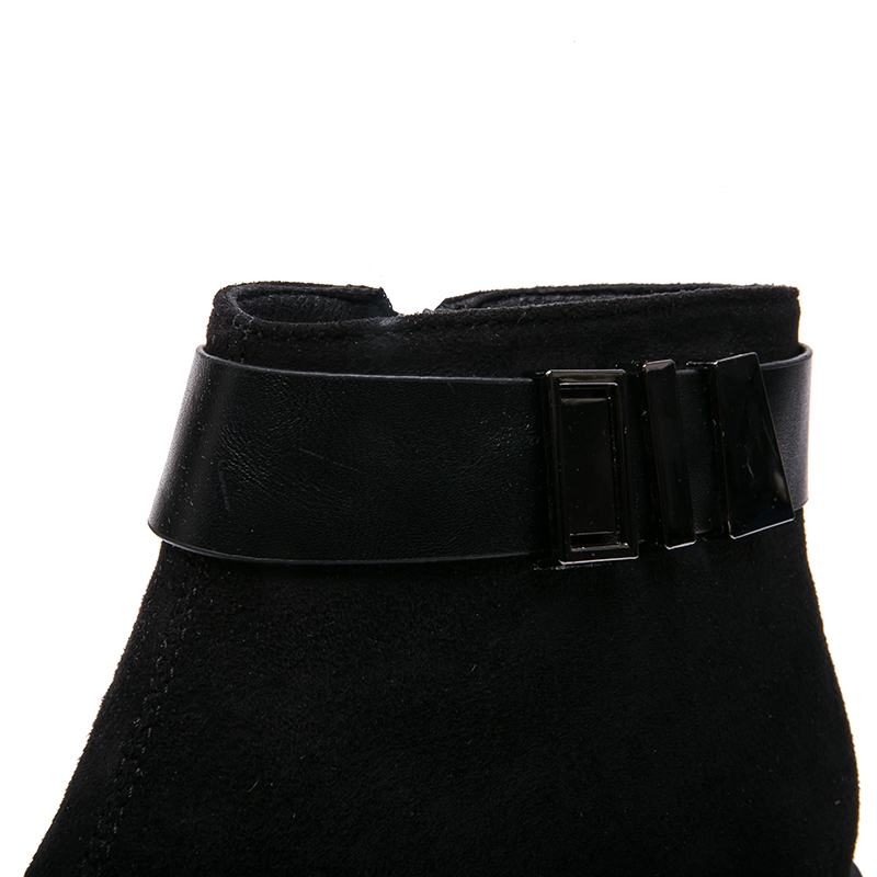 IMG_3109AIMEIGAO New Arrivals Suede Boots Women Ankle Boots For Women Warm Short Plush Boots Faux Spring Autumn Women Shoes 2018 NEW