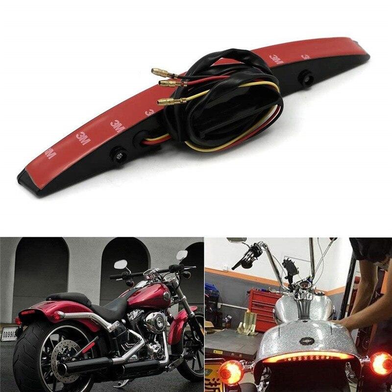 Front Mud Guard Trim Fender Tip LED Light For Harley Davidson Glide Heritage
