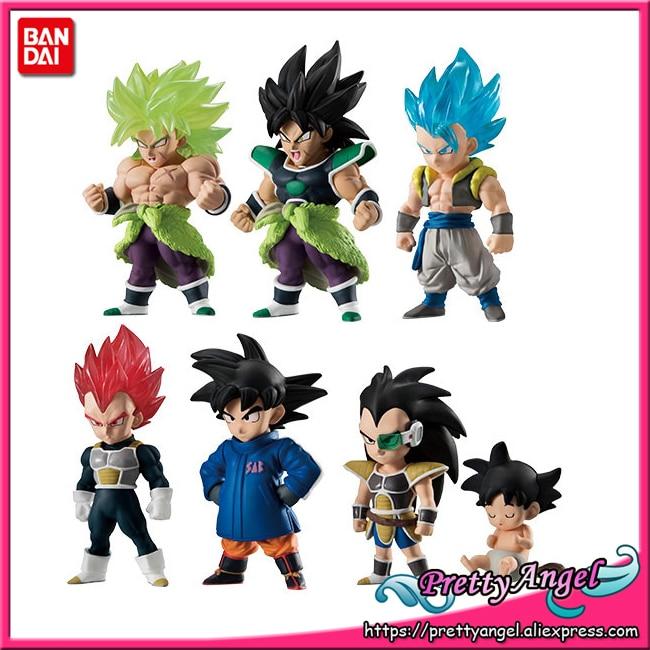 PrettyAngel Genuine Bandai ADVERGE 09 Dragon Ball SUPER Full Set of 6 Broly Son Goku Vegeta Gogeta Raditz Toy Figure