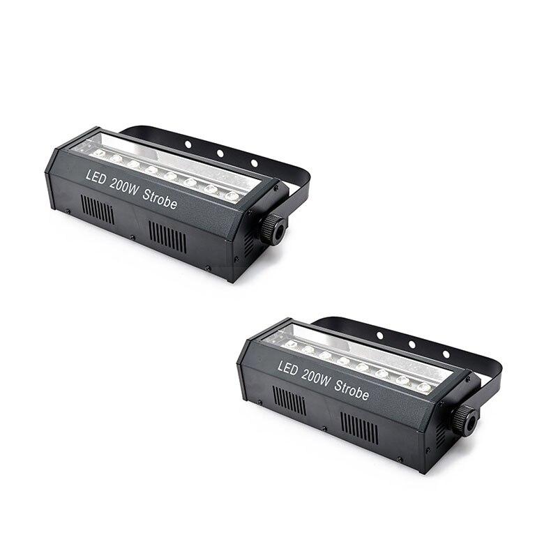 2pcs/lot 200W LED Stroboscopic Light Led Strobe Light Bar DJ Equipments DMX Stage Effect Lighting LED Efficiency Lights Disco