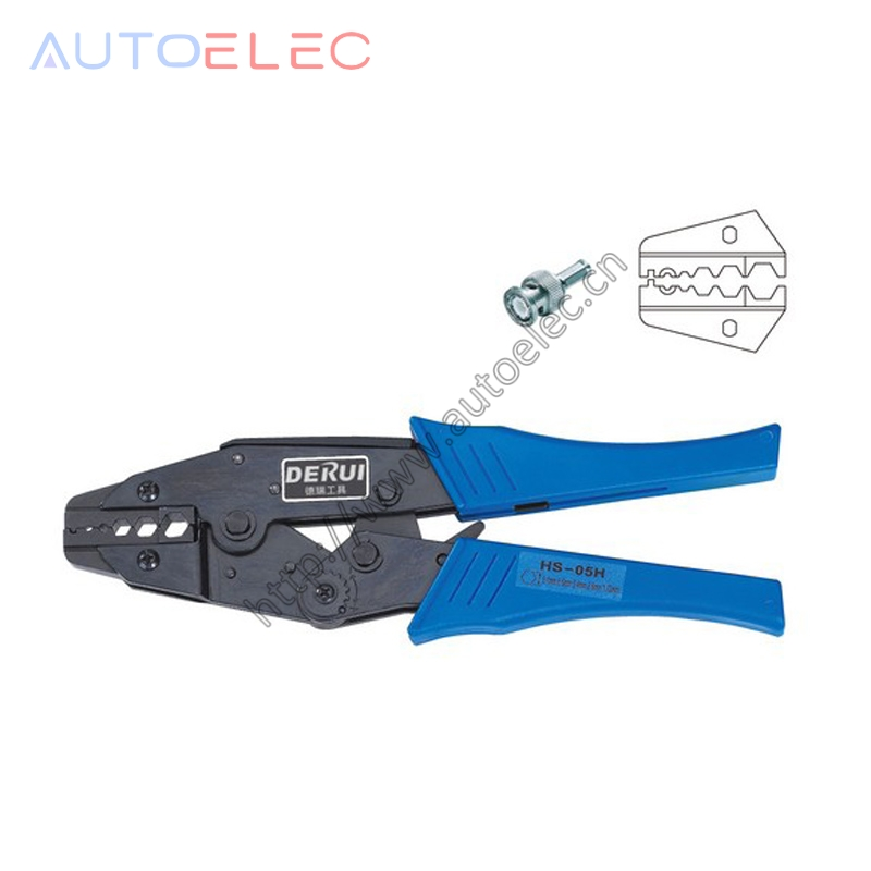 HS-05H EUROP STYLE RATCHET crimping tool for coaxial cable crimping pliers multi tool tools hands pliers