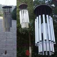 27 Tubes Silver Church Wind Chimes Outdoor Bells Garden Hanging Decorations