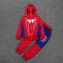 цена на boys Sport Suit Outfits Kids Fashion Brands Clothing Set Boys Sport Set Spiderman Tracksuit Children Hooded Sweatshirt