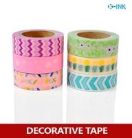 6 Rolls Set New Chevron Washi Paper Tape Set Pineapple Washi Decorative Tape For Scrapbooking Masking