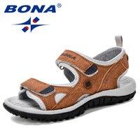 BONA 2019 nuevas sandalias populares para niños de verano nuevos zapatos de playa para niños sandalias casuales para niños cómodas sandalias deportivas de moda