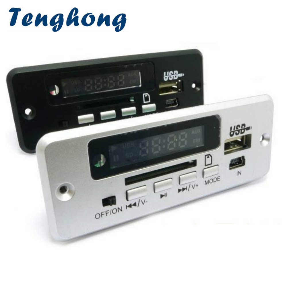 Tenghong MP3 плеер декодер доска WAV USB AUX TF радио DC5V-12V Bluetooth 3,0 стерео 5P Аудио декодирование модуль для автомобиля DIY
