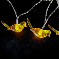 HAOCHU Creative Wedding Favors And Gift Kingfisher Bird Clear Crystal LED Fairy String Light Starry Party