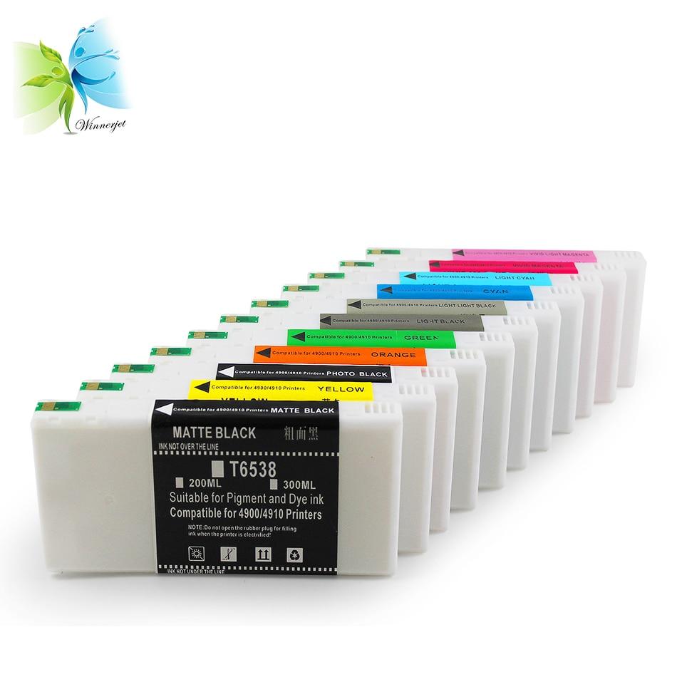 Winnerjet 11 color 200ml compatible ink cartridge for Epson stylus pro 4900 printer