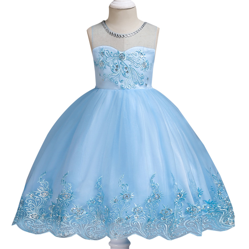 High quality   girl     flower   princess   dress   children clothing first communion   dresses   for   girls   baby costume flourished   dresses