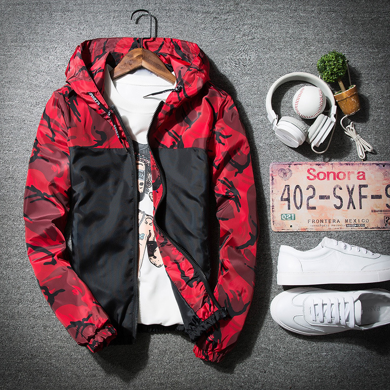 Jackets Jackets & Coats 2018 Zipper Army Floral Bomber Casual Boy Thin Coat Male Suit Outwear Camouflage Hoodie Men Clothes Mens Windbreaker Jacket