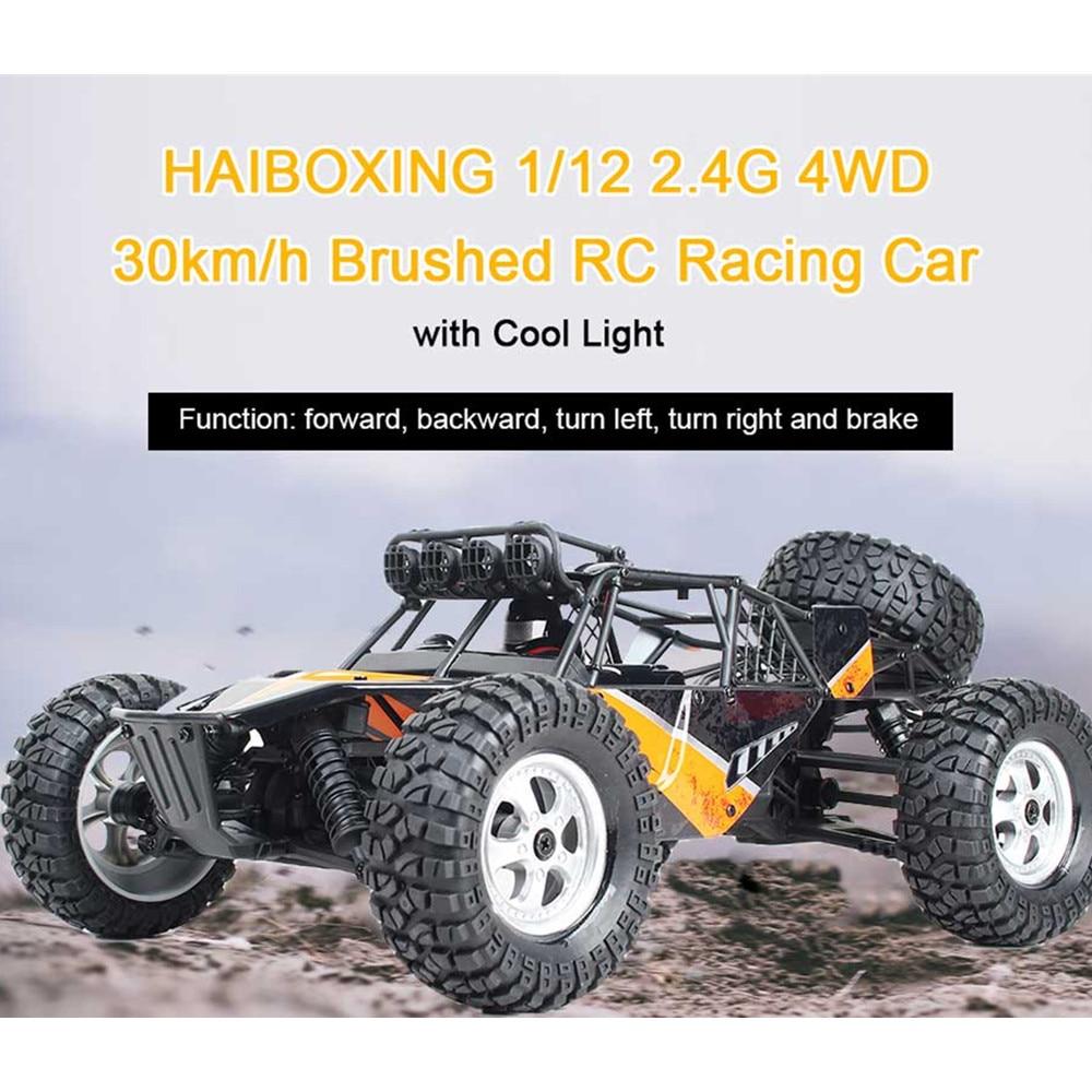 Wysokiej jakości HBX 12815 1/12 2.4G 4WD 30 km/godz wyścigi szczotkowany RC samochód Off Road ciężarówka pustyni z LED światła zabawki modele prezenty dla chłopca w Samochody RC od Zabawki i hobby na  Grupa 1