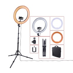 18 55W 5500K 240   LED Dimmable Photo Video Ring Light Kit - Incl Professional Social Media Photography Studio Light&6ft Stand