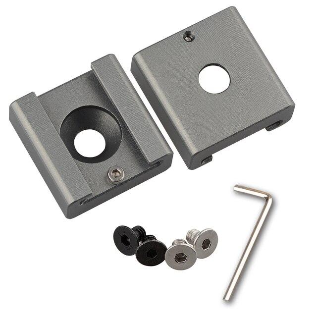 """2 pièces CAMVATE support adaptateur de montage de chaussures froides avec trou de montage 1/4 """"C1311"""