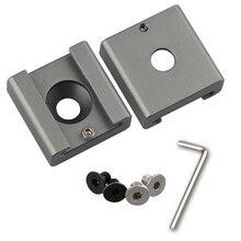"""2Pcs CAMVATE Cold Shoe Mount Adapter Bracket Hotshoe with 1/4"""" Mounting Hole  C1311"""