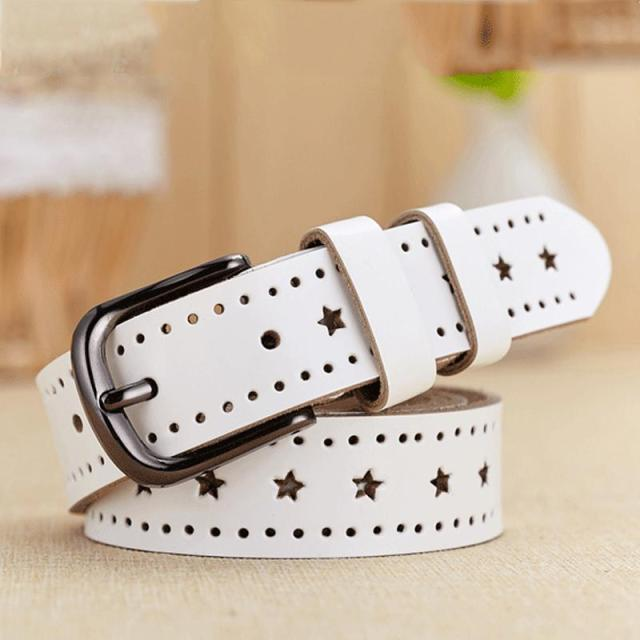 [HIMUNU] Wholesale Genuine leather women belt fashion Vintage metal pin buckle belts for women brand female belt QU025