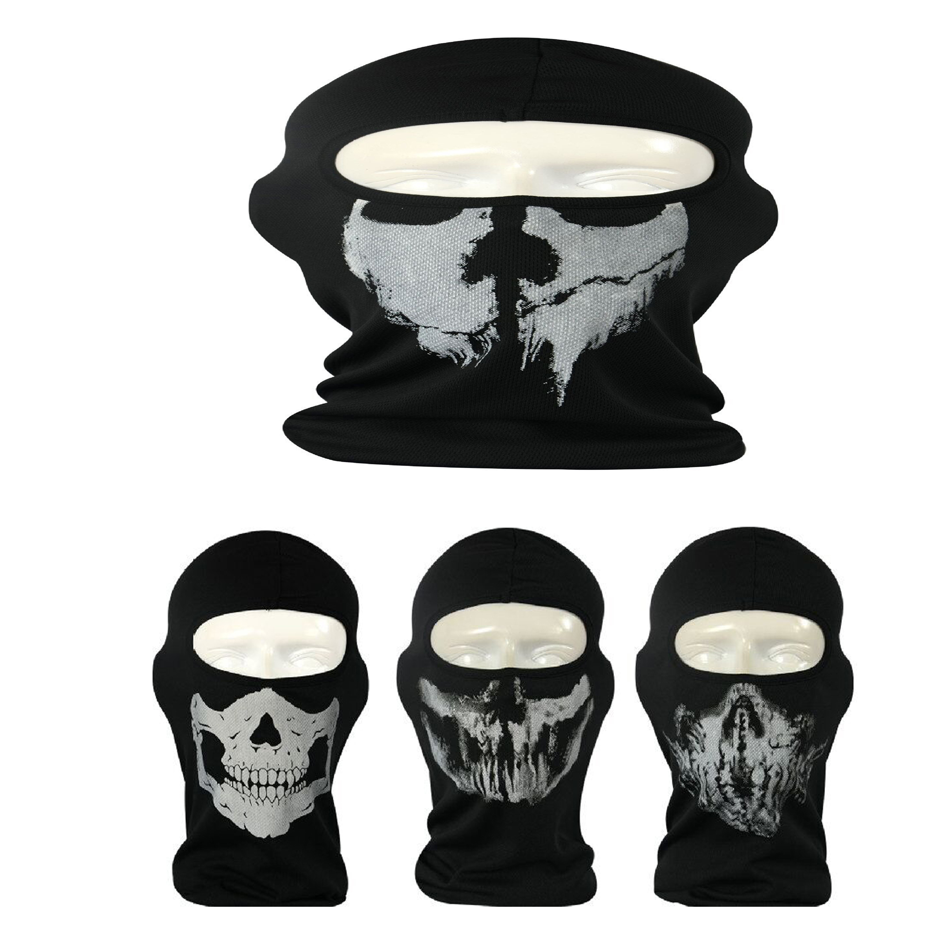 2016 New Cycling Motorcycle skull mask Ride skeleton Stretch Hap Balaclava Hood Cosplay Costume Full Face Masks Free Shipping
