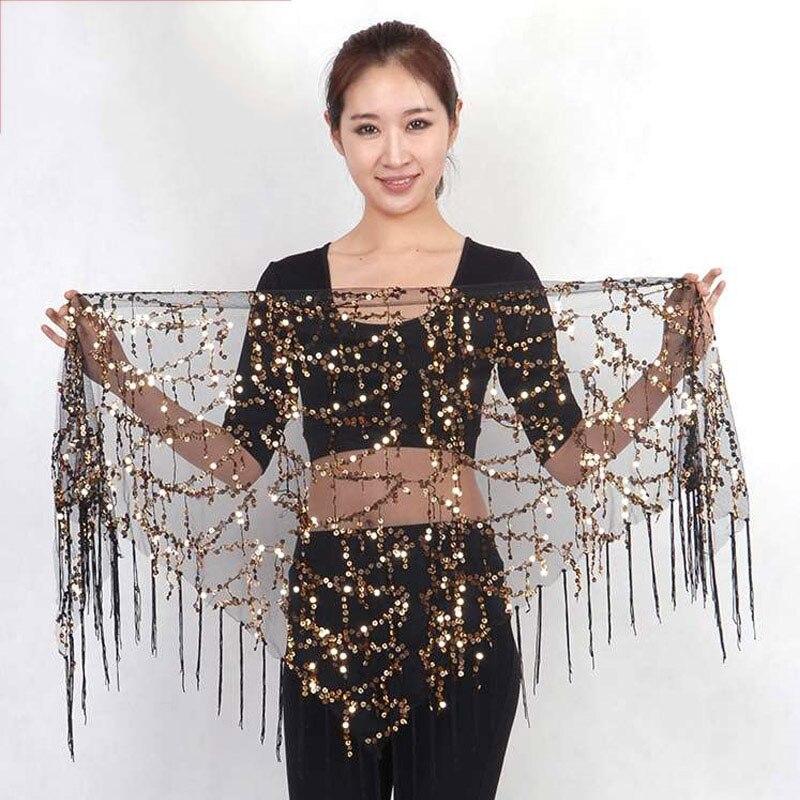 Belly Dance Accessories Sexy Tassel Sequin Waist Chain Oriental Costumes Bellydance Hip Scarf Performance Wear Waist Seal DN1644