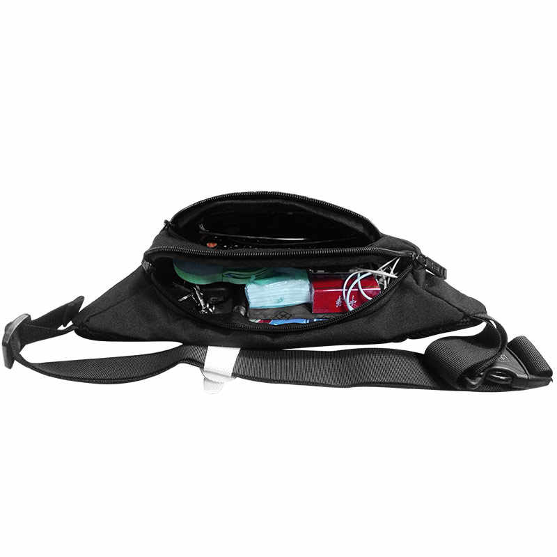 8ad1da229c5 ... 2018 Swiss Fanny Pack Male Waterpoof Waist Pack For Men and Women Black  Travel Belly Bag ...
