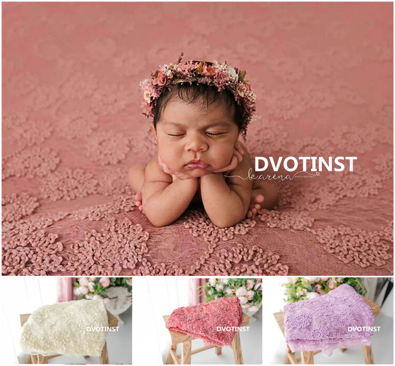 Dvotinst Newborn Baby Photography Props Background Flora Blanket Backdrop Mat Fotografia Accessories Studio Shoots Photo Props 600cm 300cm fundo snow footprints house3d baby photography backdrop background lk 1929