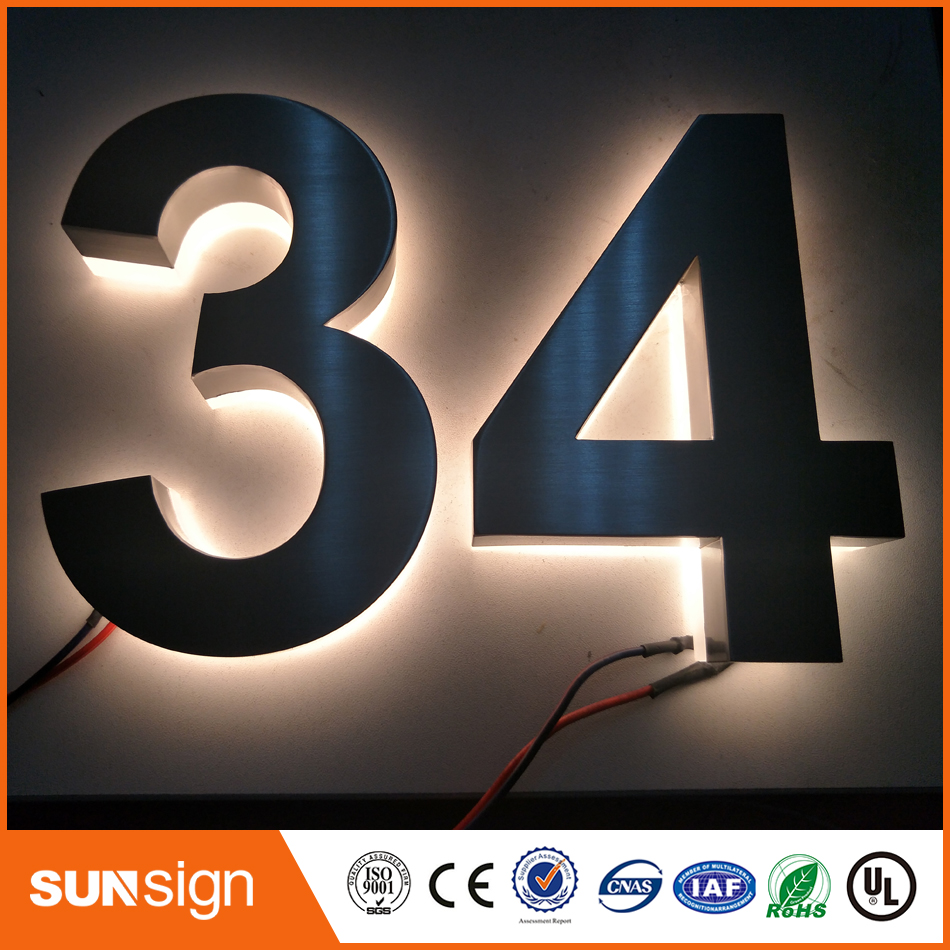 2016 Outdoor Outlet Waterproof Custom Metal Backlit Led Channel Letter