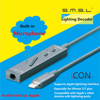2017 Newest SMSL ICON HIFI Audio Lighting Decoder DAC AMP 48Khz Portable Headphone Amplifier For Apple