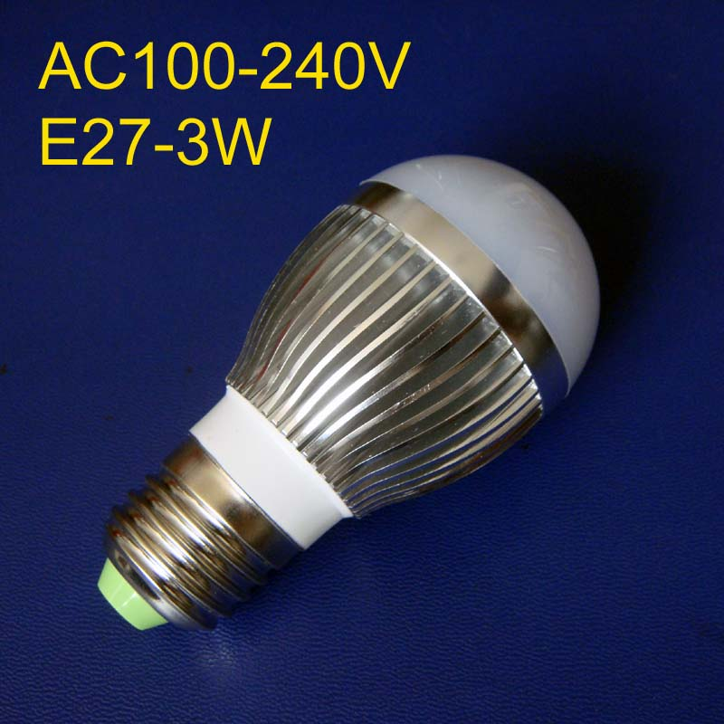 E27 high power led bulbs 3W LED 3*1W E27 light free shipping 2pcs/lot