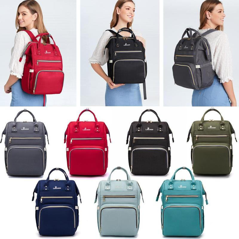 LEQUEEN Nappy Backpack Bag Mummy Large Capacity Bag Mom Baby Multi-function Waterproof Outdoor Travel Diaper Bags For Baby Care